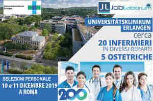 Erlangen, posizioni aperte per 20 infermieri e 5 ostetriche