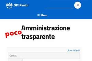 """Le """"pezze"""" dell'Opi Rimini alla mancata pubblicazione dei bilanci"""