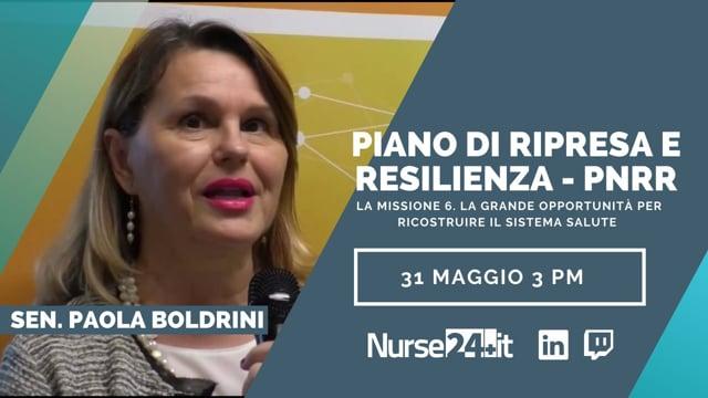 Piano di ripresa e resilienza - PNRR - Sen. Paola Boldrini