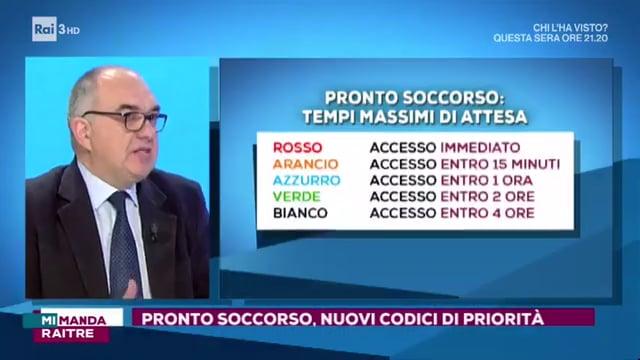 Triage, l'infermiere Daniele Marchisio a Mi Manda Rai Tre