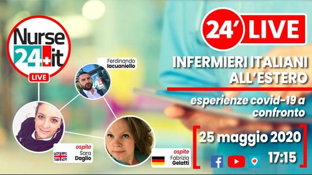 24 minuti Live - Covid-19 infermieri italiani all'estero