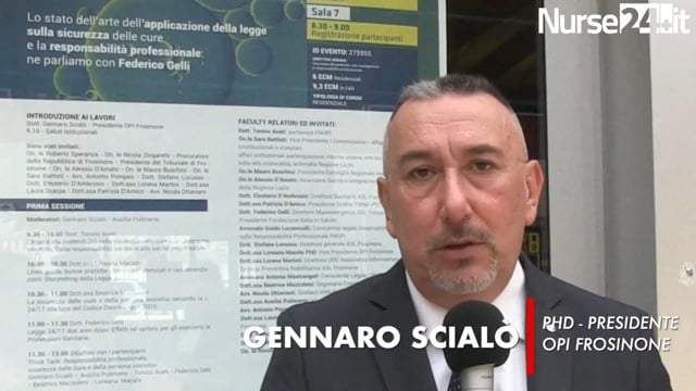 Scialò: l'OPI di Frosinone è disponibile a dare consulenza