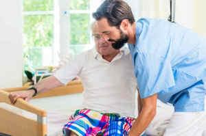 Posizionamento del paziente dalla posizione sdraiata a seduto