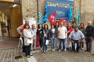 Fondazione Don Gnocchi, il presidio dei sindacati