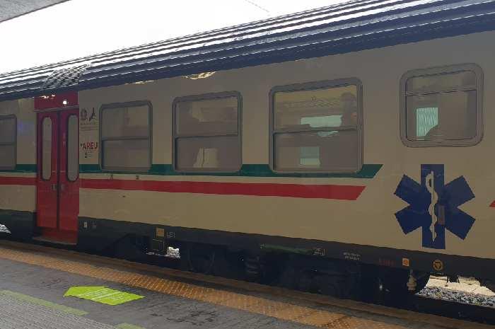 Inaugurato treno sanitario, a bordo 18 infermieri esperti