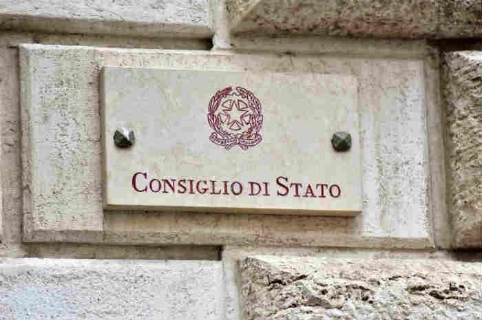 targa del consiglio di stato
