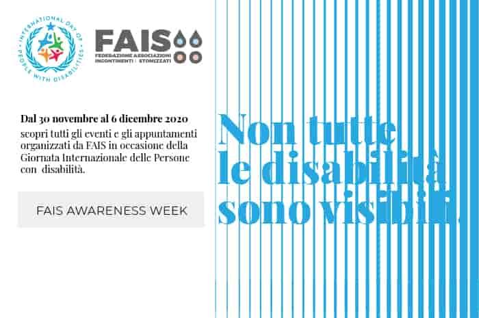 FAIS Awareness Week: non tutte le disabilità sono visibili