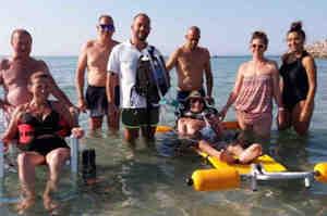 In Salento il mare è per tutti, anche per chi ha la Sla