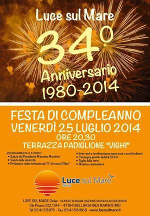 34 anni fa nasceva Luce sul Mare ed oggi festeggia il suo nuovo presidente Massimo Marchini