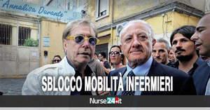 Sblocco mobilità Campania: infermieri attendono incontro con De Luca