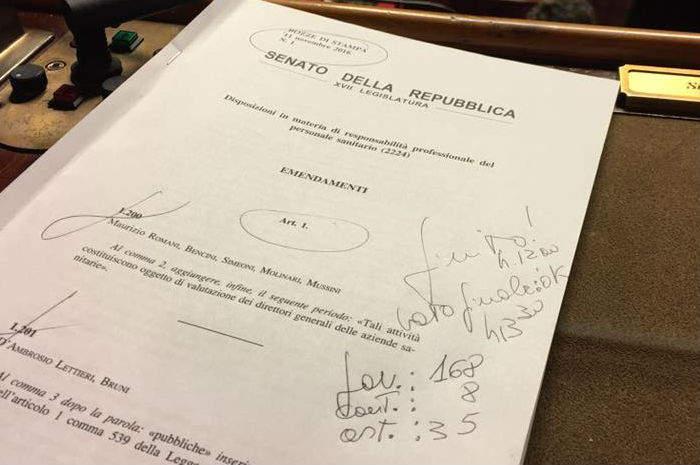 Responsabilità professionale, via libera del Senato al ddl Gelli